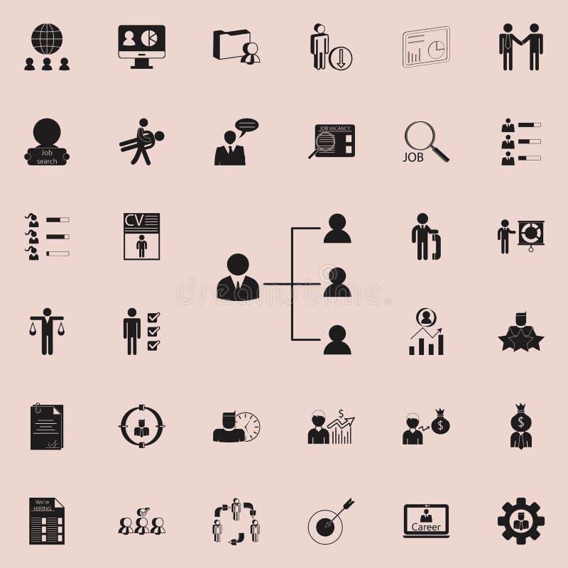hierarchyicon fonctionnant Heure et ensemble universel d'icônes de chasse de la chaleur pour le Web et le mobile illustration stock