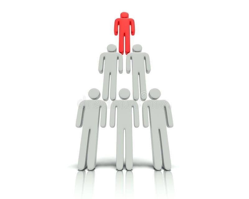 Hierarki av folk. stock illustrationer