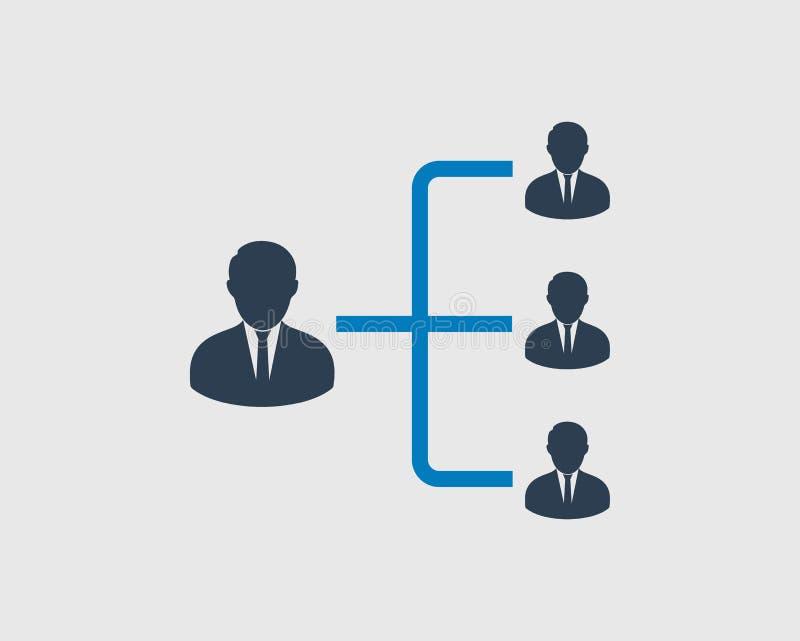 Hierarki eller ledare Icon stock illustrationer