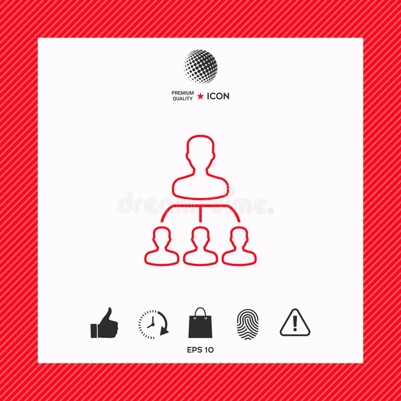 Hierarki - linje symbol stock illustrationer