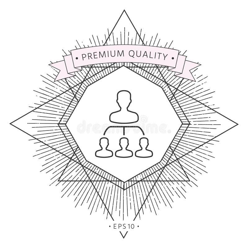 Hierarki - linje symbol royaltyfri illustrationer