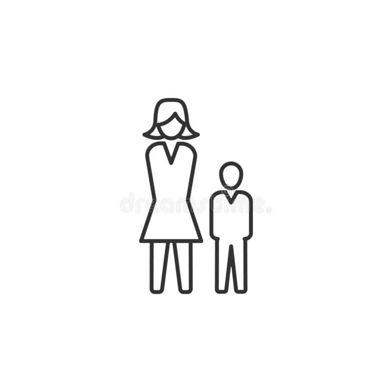 Hierarki människa, affärslinje symbol Enkel modern plan vektorillustration för mobilen app, website eller skrivbord app stock illustrationer
