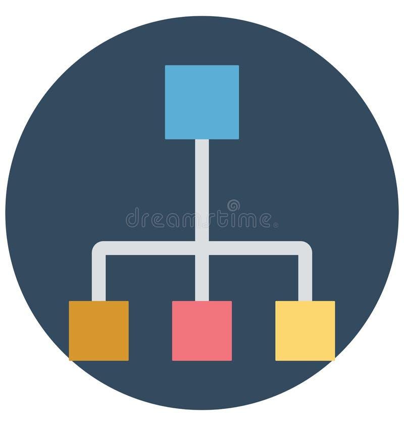 Hierarki nätverk, isolerade vektorsymboler som kan lätt ändras eller redigera royaltyfri illustrationer