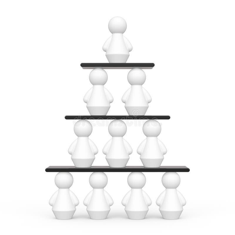 Hierarkibegrepp royaltyfri illustrationer