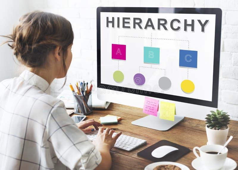 Hierarkiledare Team Diagram Concept arkivbilder