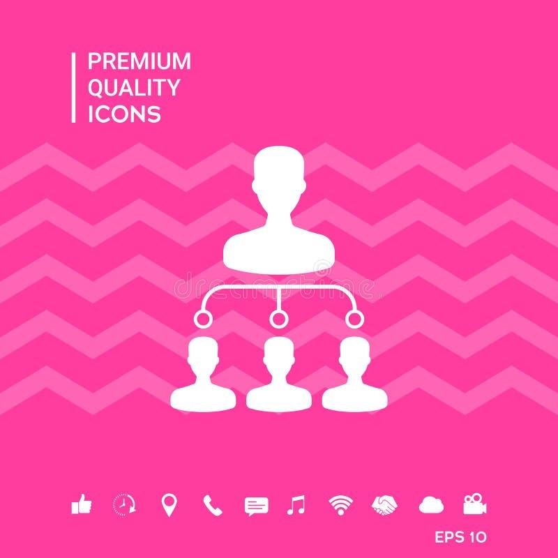 Hierarkisymbolsymbol royaltyfri illustrationer
