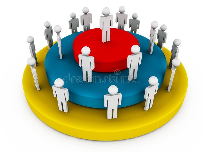 Hierarquia da liderança ilustração do vetor