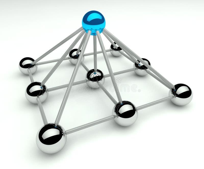 Hierarquia e gerência, níveis do piramid 3d ilustração do vetor