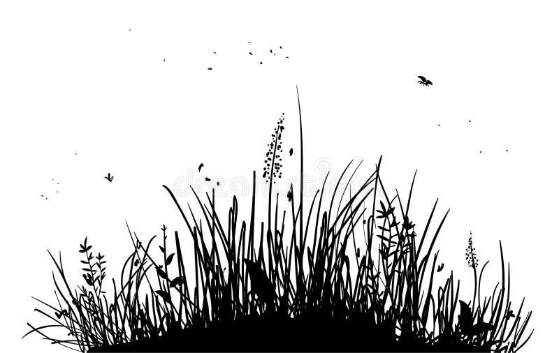 Hierba stock de ilustración