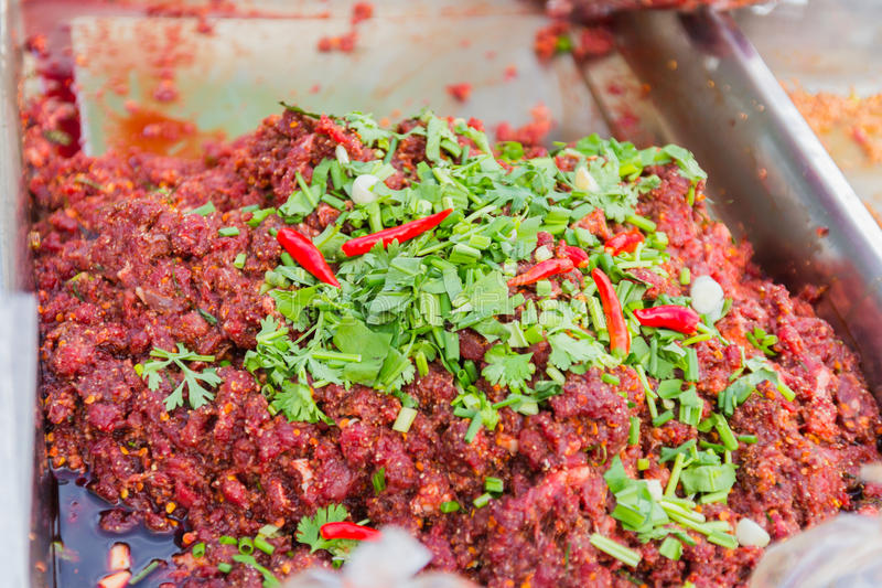 Hierba cruda orgánica Fed Ground Beef foto de archivo