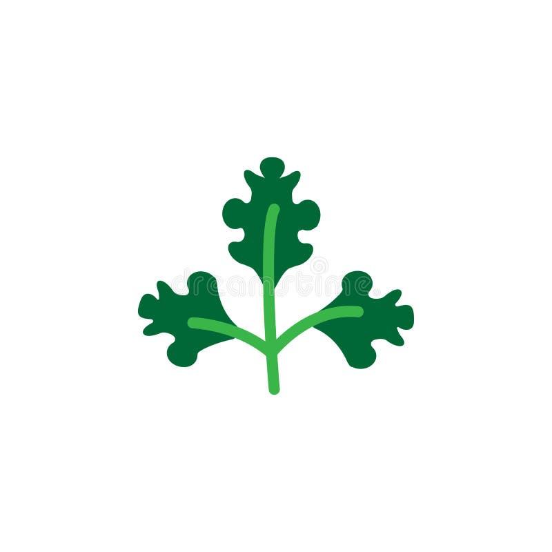 Hierba, icono del perejil Elemento del icono de la hierba para los apps móviles del concepto y de la web La hierba detallada, ico libre illustration
