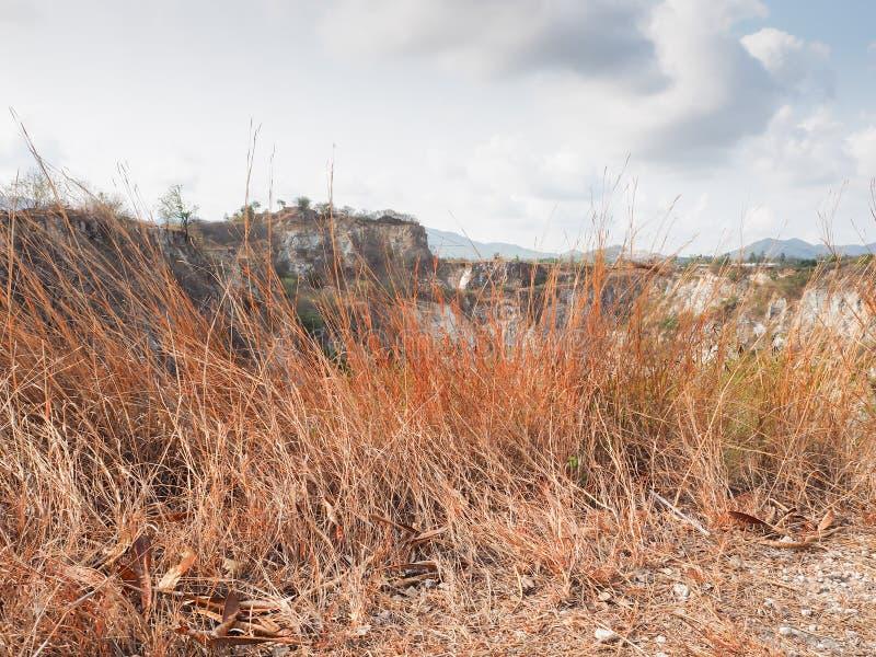 Hierba seca en las montañas imagen de archivo libre de regalías