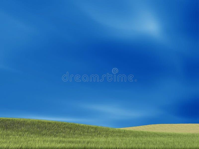 Hierba verde y fondo agradables stock de ilustración