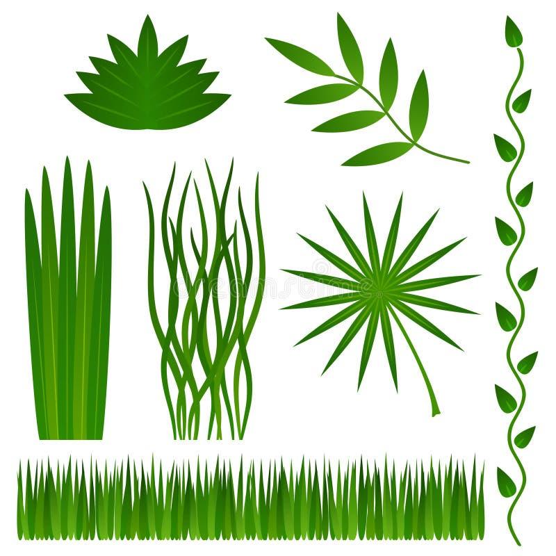 Hierba y plantas stock de ilustración