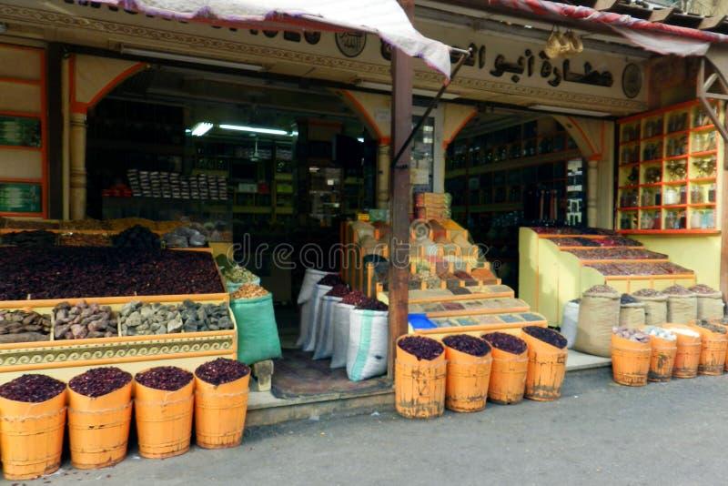 Hierbas y especias secadas, tienda en Egipto imagen de archivo