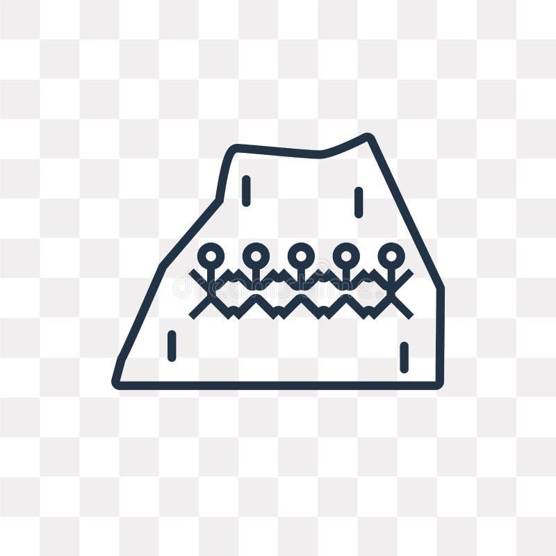 Hieroglif wektorowa ikona odizolowywająca na przejrzystym tle, linea royalty ilustracja