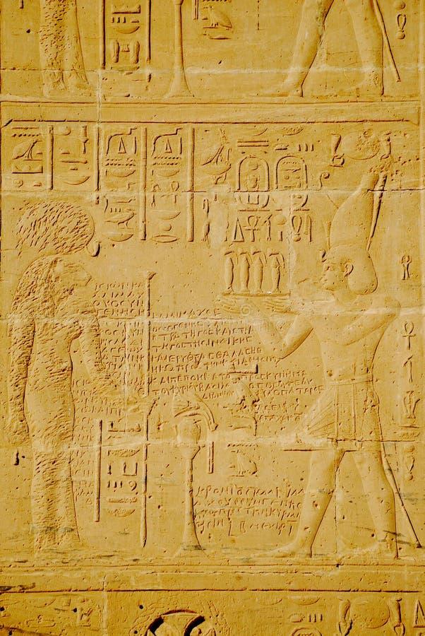 hieroglify Luxor świątyni ściany obrazy royalty free