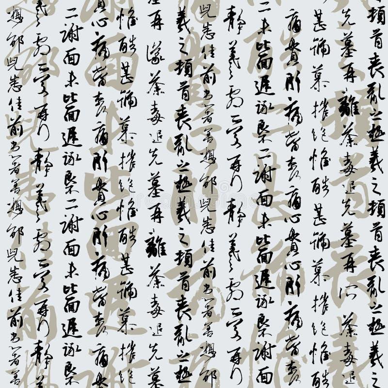 hieroglify porcelanowi Japan royalty ilustracja