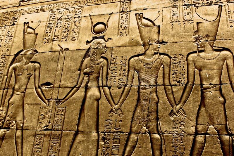 Hieroglyf i templet Luxor fotografering för bildbyråer