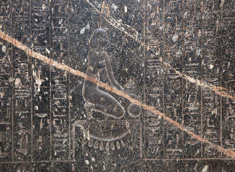 Hieroglyph στο βρετανικό μουσείο στοκ φωτογραφία