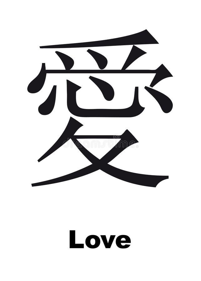 Hieroglyph do amor ilustração do vetor