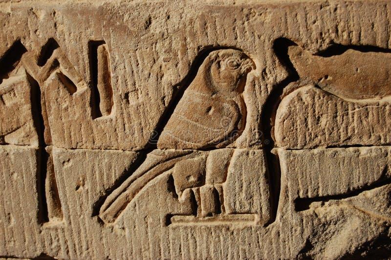 Hieroglyph egípcio fotografia de stock