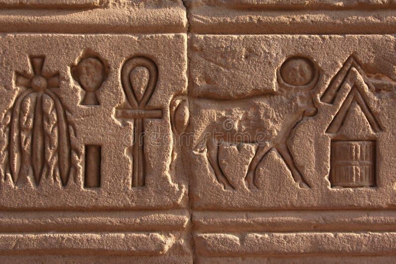 Hieroglyph em Philae imagem de stock