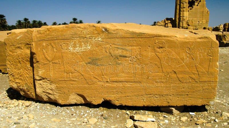 Hieroglyph on Ruins of Amun temple ,Soleb, Sudan. Hieroglyph on Ruins of Amun temple in Soleb, Sudan stock photos