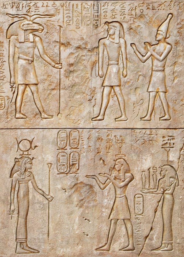 Hieroglyphe lizenzfreie stockbilder