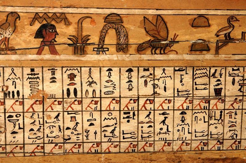 Hieroglyphen lizenzfreie stockbilder