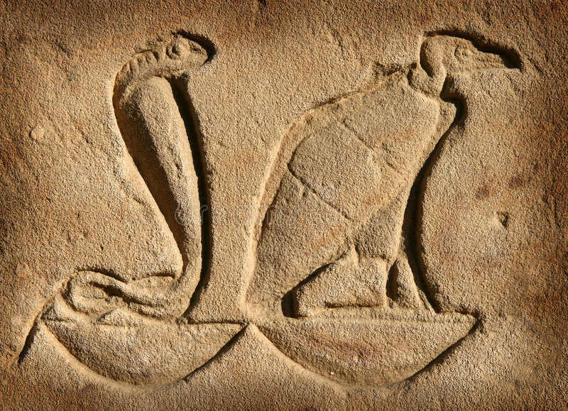 Hieroglyphen am Edfu Tempel lizenzfreie stockbilder