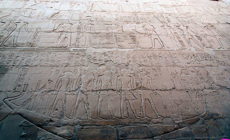 Hieroglyphen in einem Tempel, ägyptisch lizenzfreies stockfoto