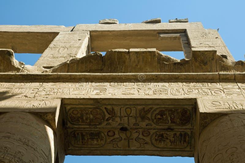 Hieroglyphen in Kom Ombo lizenzfreies stockbild