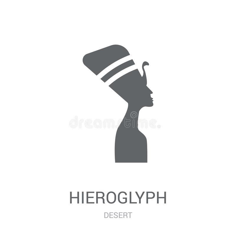 Hieroglyphenikone  stock abbildung