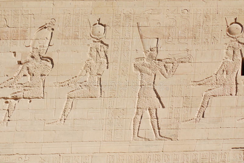 hieroglyphic imagem de stock