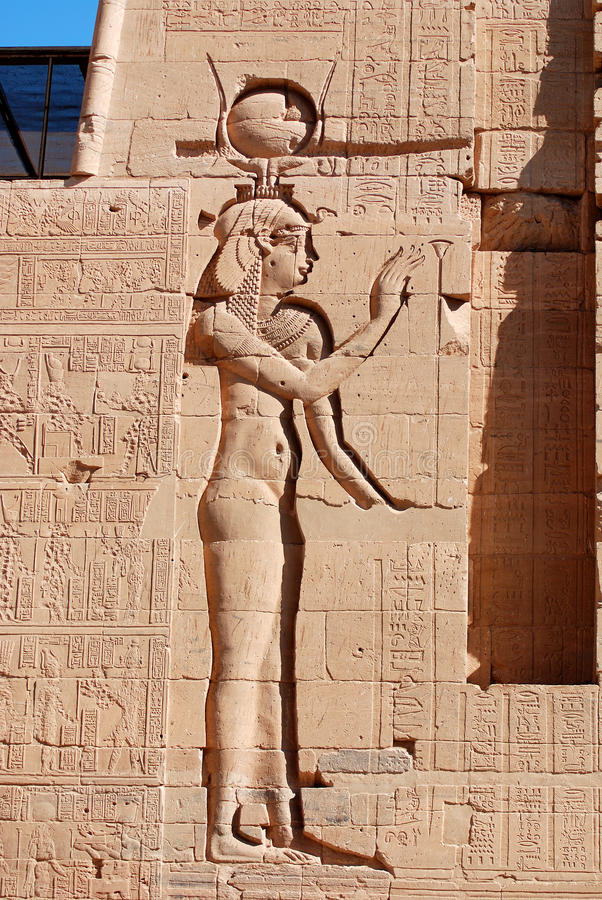 hieroglyphic arkivbild