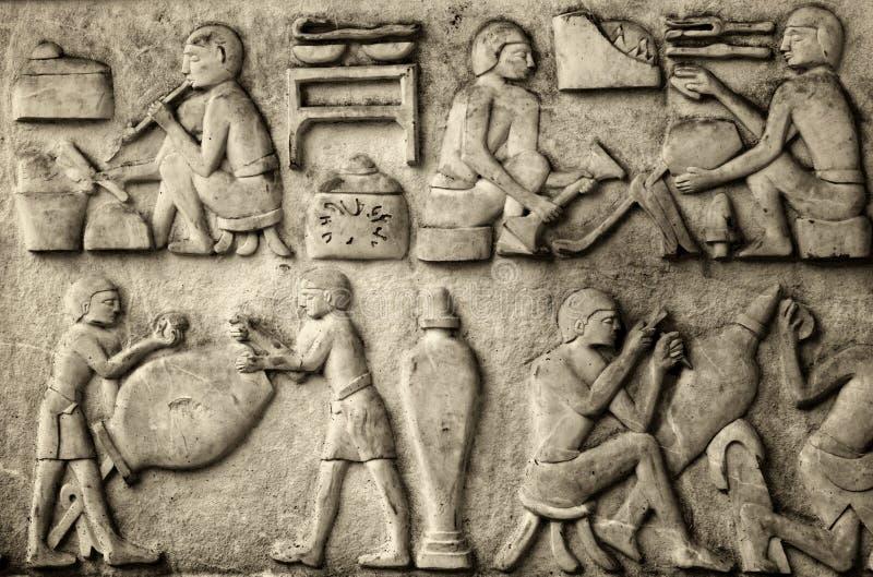 hieroglyphic royalty-vrije stock afbeelding