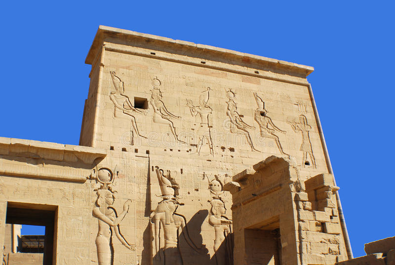 Hieroglyphic royalty free stock photo