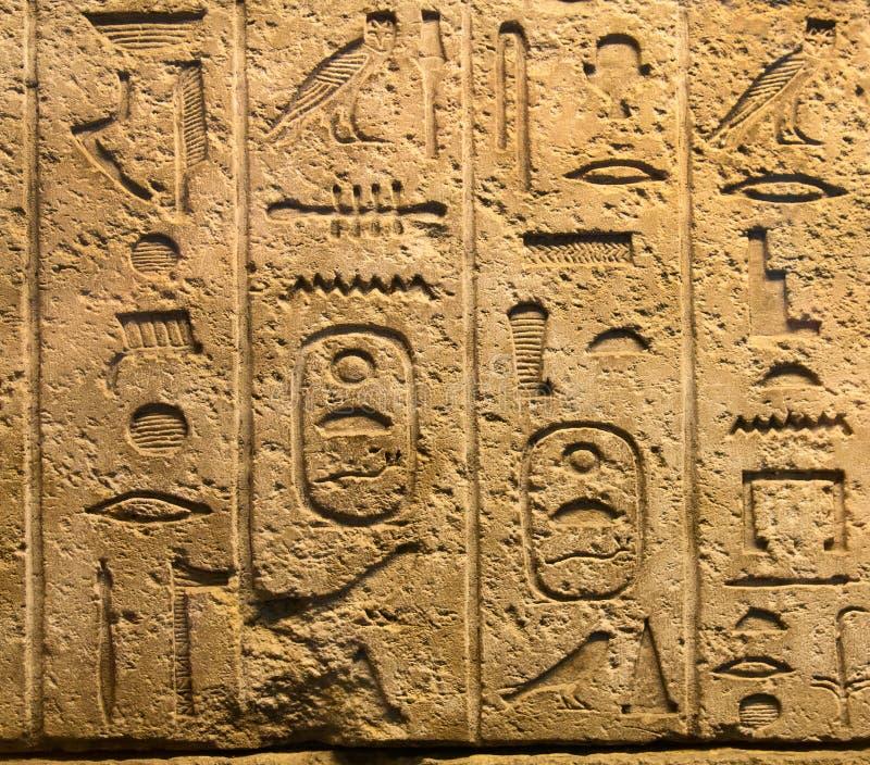 Hieroglyphic royaltyfri foto