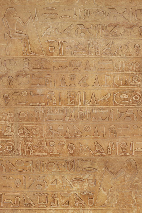 Download Hieroglyphic on stone stock photo. Image of historical - 27310826