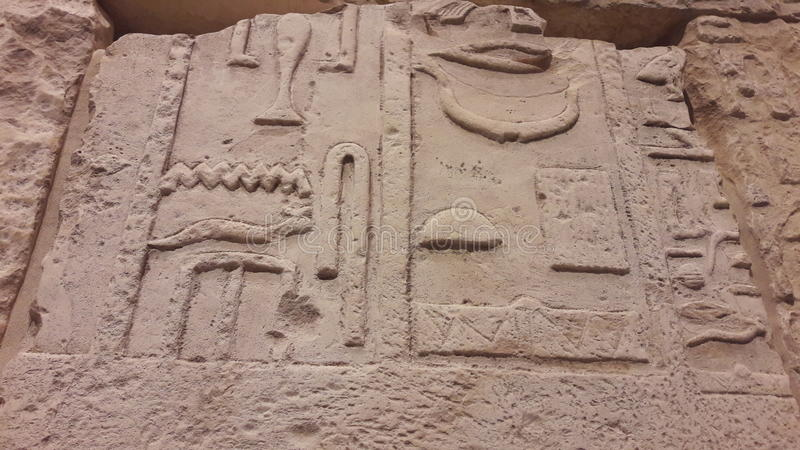 Hieroglyphics египетские стоковое изображение rf
