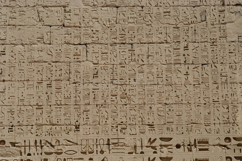 hieroglyphics royaltyfria foton