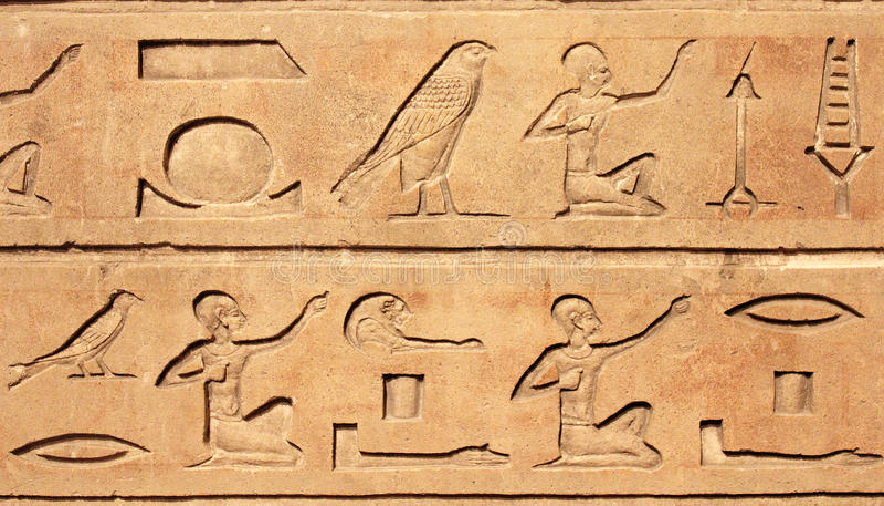 Hieroglyphics royalty free stock photos