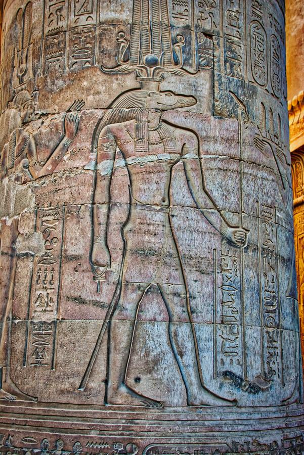Free Hieroglyphics At Temple Of Kom Ombo Royalty Free Stock Images - 121125629