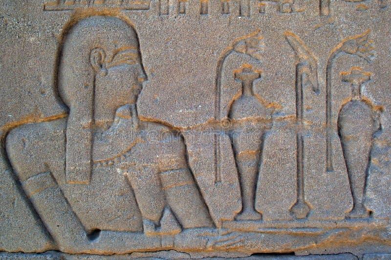 Hieroglyphics de Eygpt fotografía de archivo