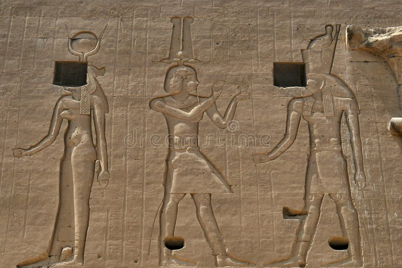 Hieroglyphics egípcios imagens de stock