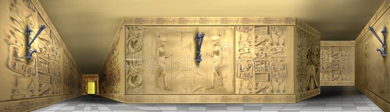 Hieroglyphics egípcios ilustração do vetor