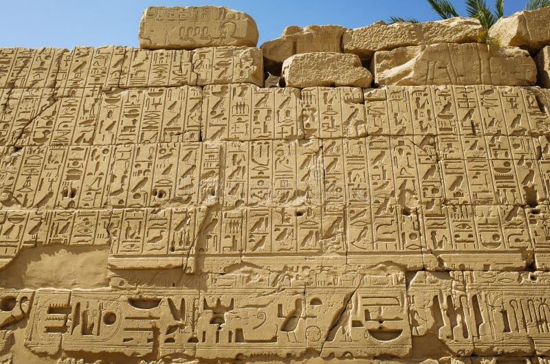 Hieroglyphics egipcios antiguos foto de archivo