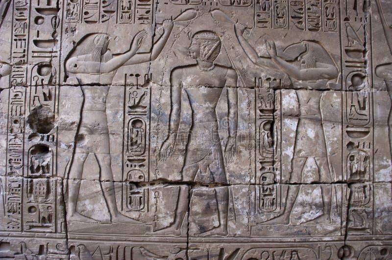 Hieroglyphics egiziani antichi, corsa dell'Egitto immagine stock libera da diritti