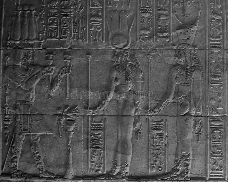 hieroglyphicsphilaetempel royaltyfri fotografi